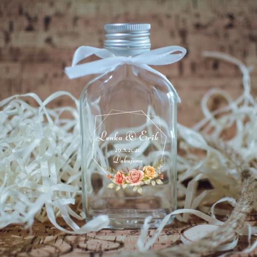svadobná fľaštička s potlačou na mieru