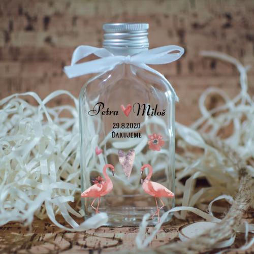 Svadobná fľaštička s potlačou