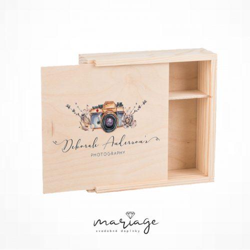 drevená svadobná krabička na fotky pre fotografov